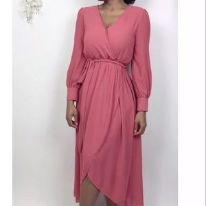 Poetry Dresses - Poetry Chiffon long sleeve wrap dress